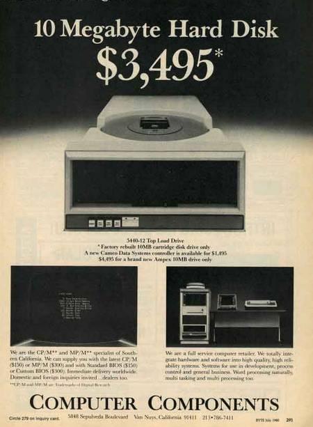 vintage hard disk