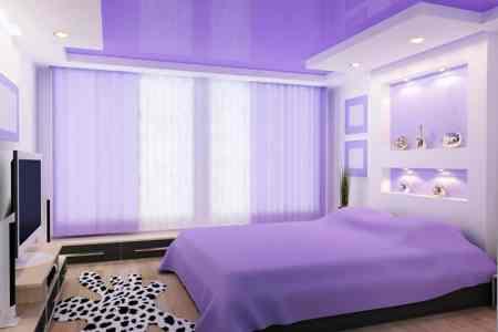 custom purple bedroom modern design