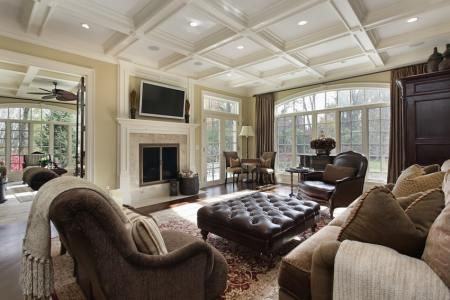 upscale living room design mansion home
