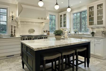 beautiful kitchen island stone counter