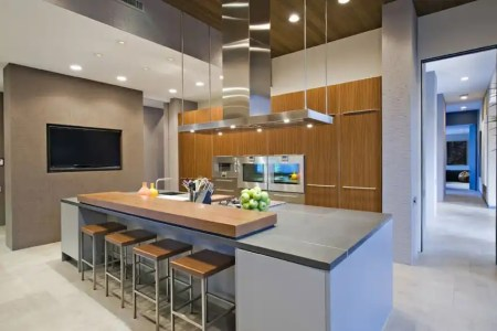 modern kitchen in upscale house