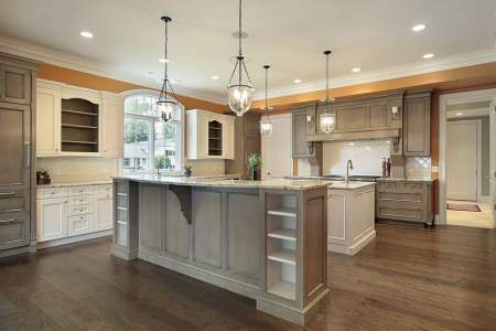 spacious kitchen in traditional style