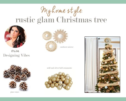 my home style rustic glam christmas tree