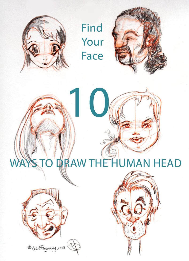 10 Ways to Draw the Human Head