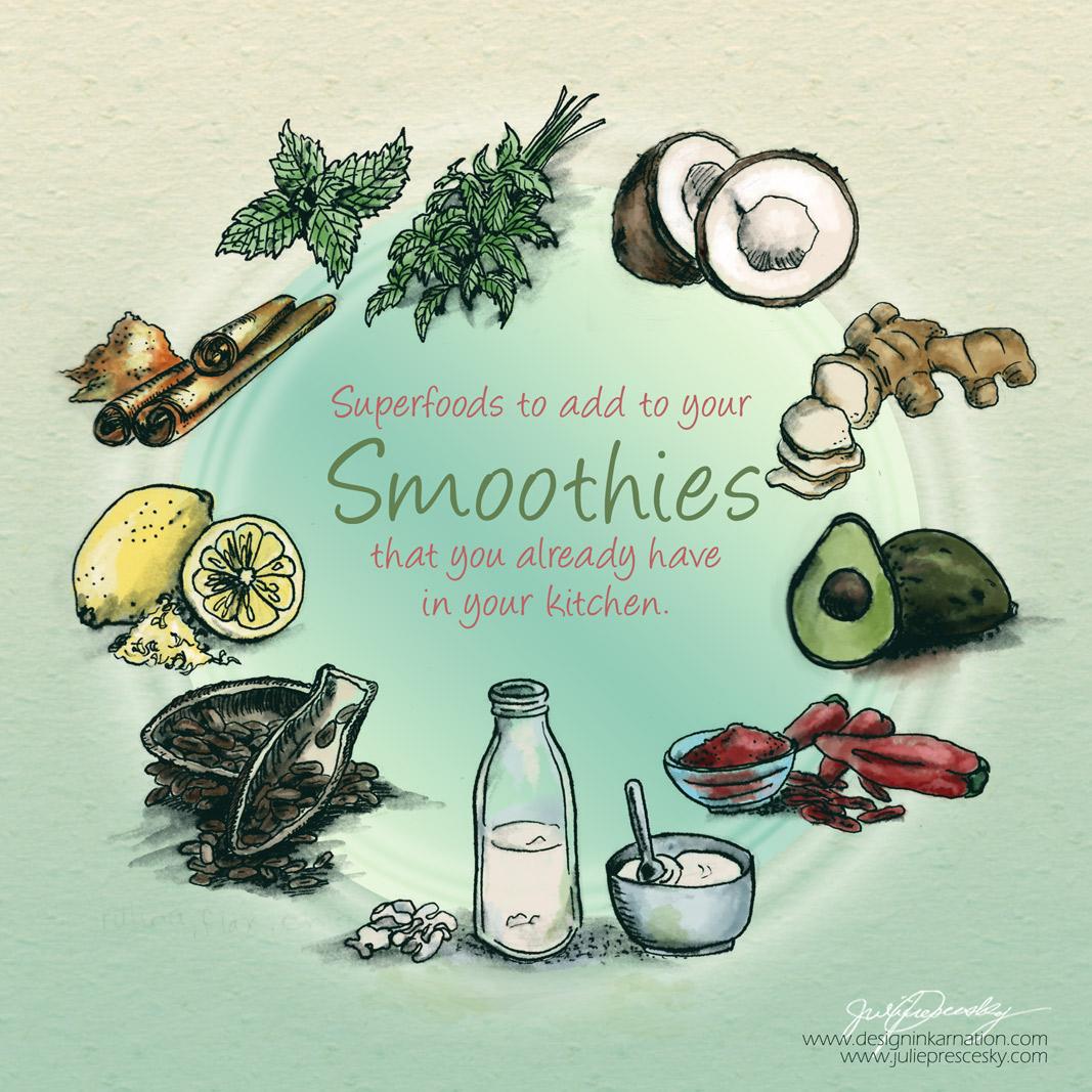 Food Illustrations for Blendtec