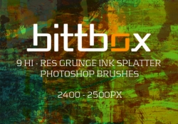 High Res Grunge Ink Splatter Brushes