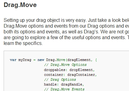 Drag and Drop Using Drag.Move