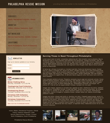 Tutorial for creating a non-profit website layout in Photoshop