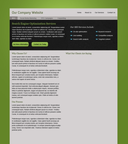 Photoshop Layout Tutorial - Corporate Website