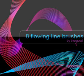 Flowing Lines Brushes