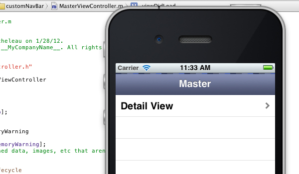 Featured image - custom iPhone app navigation bar