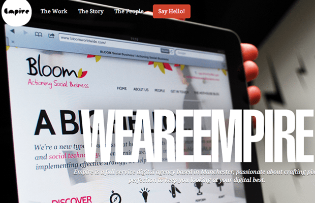 We Are Empire design studio website