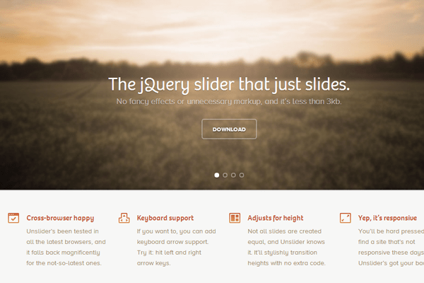 Unslider jquery open source plugin background images