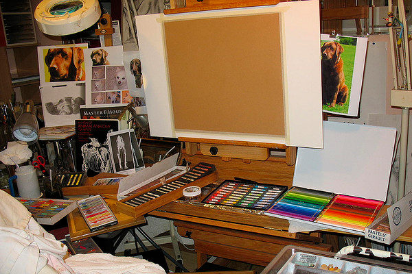 artistic vision studio easel painting