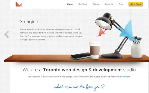 3magine toronto canada web design agency firm wordpress layout