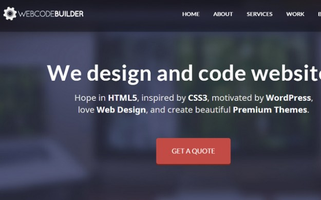 we code builder llc website running wordpress
