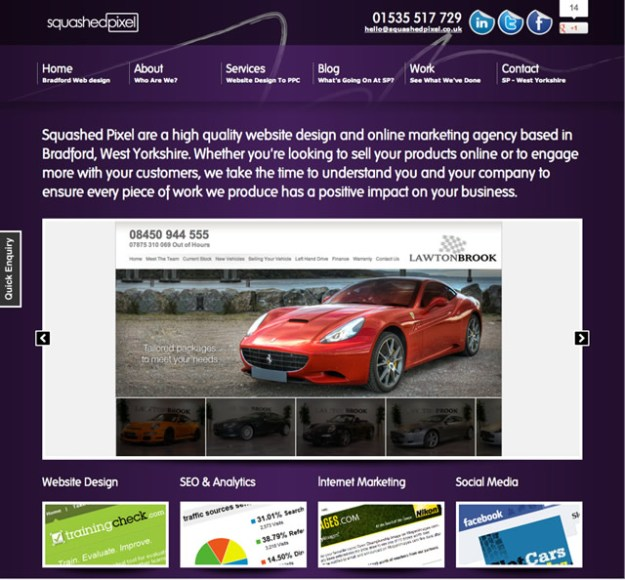 Squashed Pixel are a high quality website design and online marketing agency based in the UK
