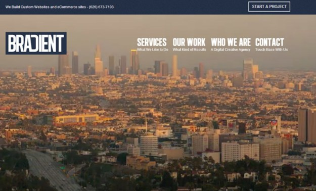 bradient downtown los angeles web design agency