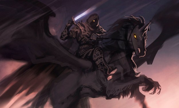 dark horse rider cg illustration fantasy