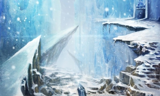 ice world scene illustration design concept