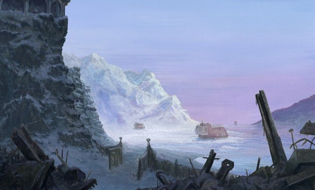 frozen bay artwork concept artwork ice