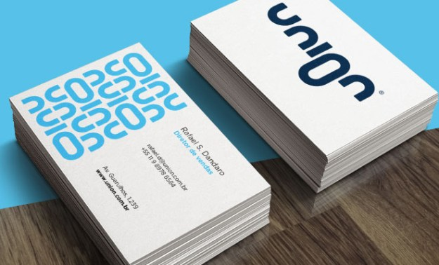 union link print business card branding logo