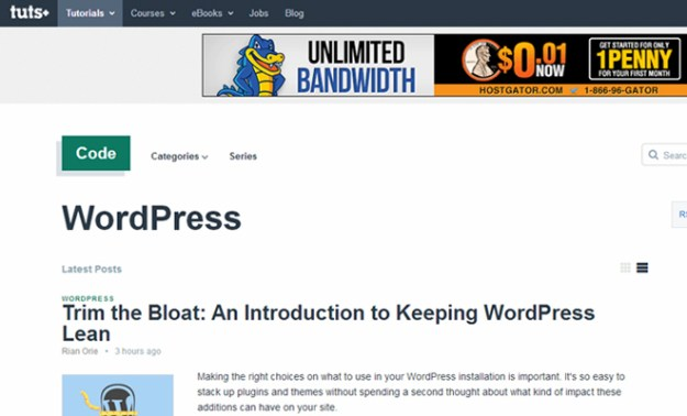 wordpress tutsplus website tutorials blog