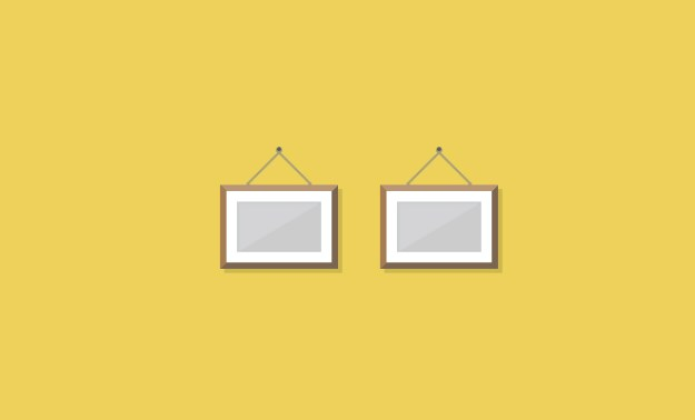 hanging picture frame icons css
