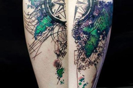 abstract tattoo designed by klaim