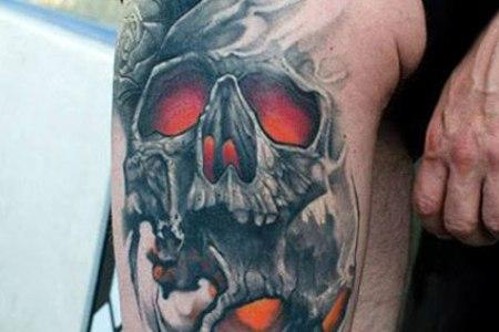 artistic skull tattoo by klaim