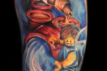 colorful tattoo by max pniewski