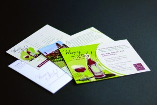 "LJS&C wine invitation ""Wines of Italy!"" ~ Award of Excellence by Graphic Design USA"