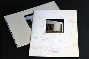 image of The Neurosciences Institute brochure and folder
