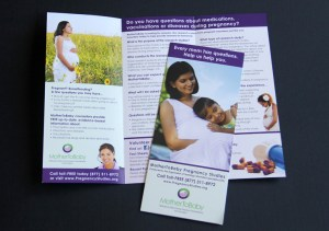 image of the MotherToBaby pregnancy studies brochure