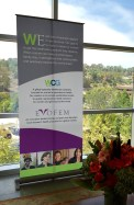 image of the WomanCare Global and Evofem pull up banner