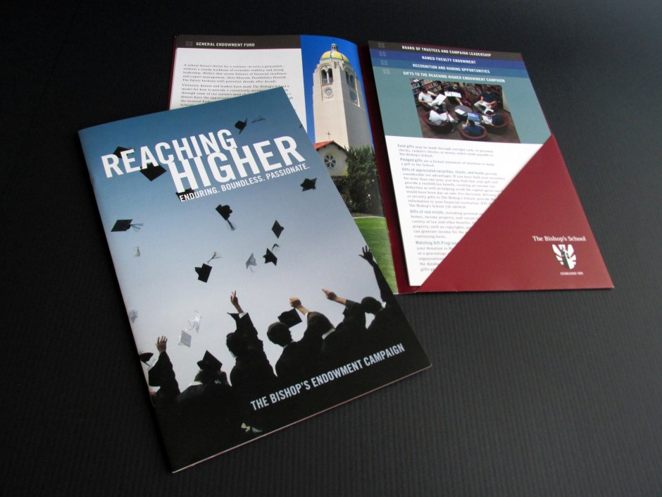 "The Bishop's School ""Reaching Higher"" Endowment Campaign brochure"