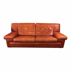 Small Crop Of Red Leather Sofa
