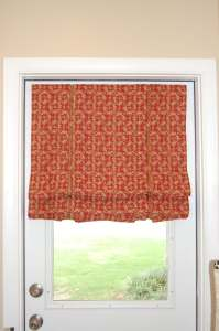 Pleated roman shade with details..................