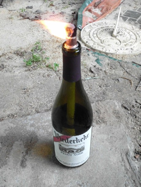 make a wine bottle torch SANY0580