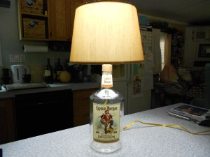 How to Make a Lamp with a Liquor Bottle 14