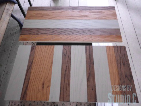 Create a Striped Panel with Stain and Plywood SANY0673