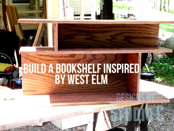 build a bookshelf inspired by West Elm Table