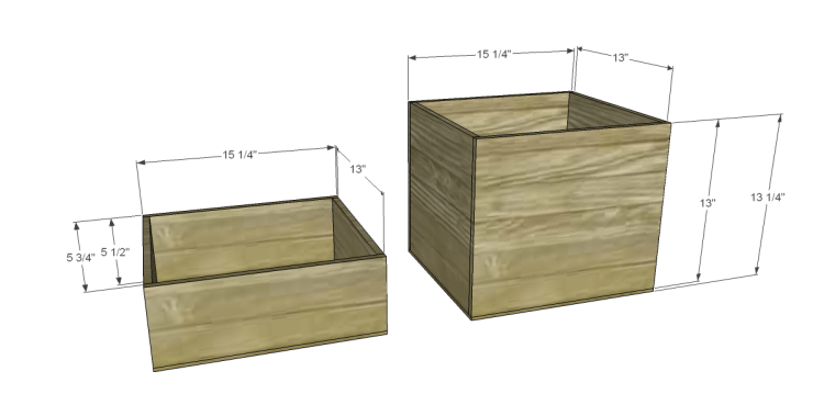 Free Furniture Plans to Build a File Cabinet_Drawer Boxes