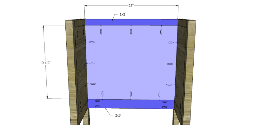 Free Plans to Build a Pier One Inspired Rivet Cabinet_Back Panel