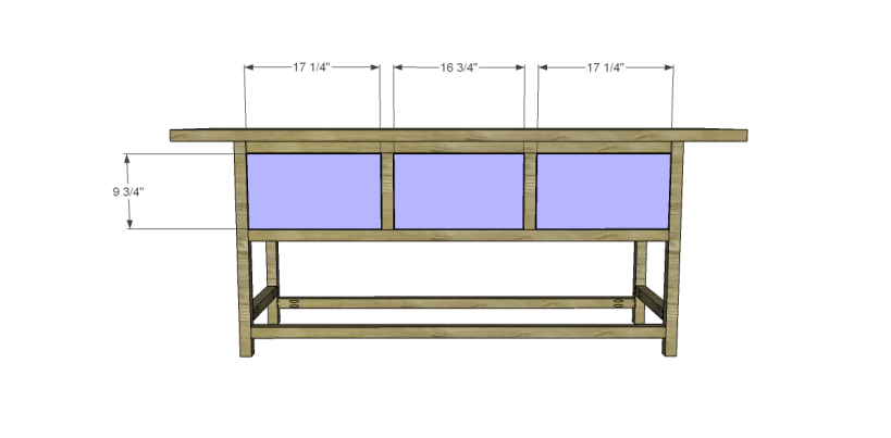 free plans to build a wisteria inspired chinese butcher table_Drawer Fronts