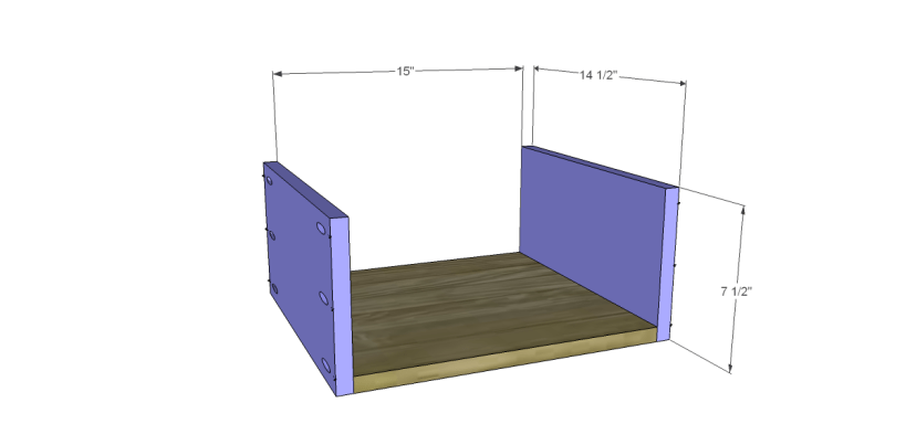 free plans to build a wisteria inspired chinese butcher table_Lg Drawer BS