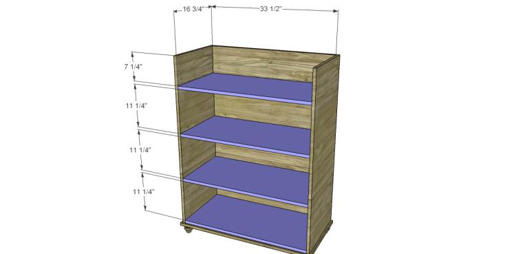 Free Plans to Build a Pier One Inspired Ashworth 5-Drawer Dresser_Shelves