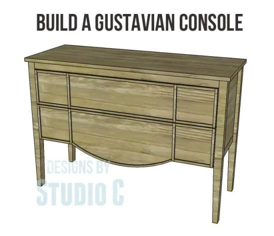 free furniture plans build gustavian console_Copy