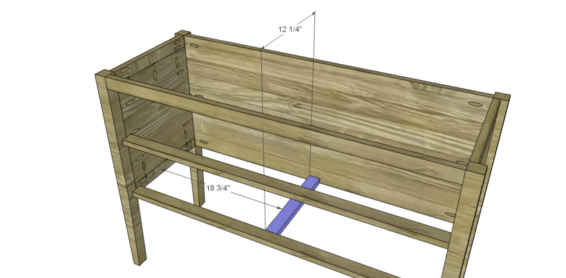 free furniture plans build gustavian console_Lower Drawer Support