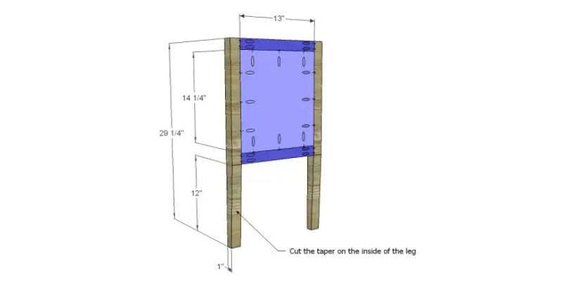 free furniture plans build gustavian console_Side Frames